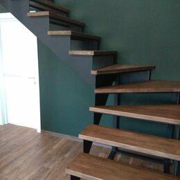 Лестницы и элементы лестниц - Лестница на металлокаркасе , обшивка лестниц, 0