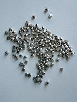 Рукоделие, поделки и товары для них - Бусина из серебристого металла, 0
