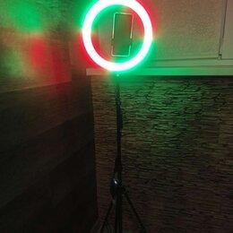 Осветительное оборудование - Кольцевые лампы 33см + держатель + штатив 208см, 0