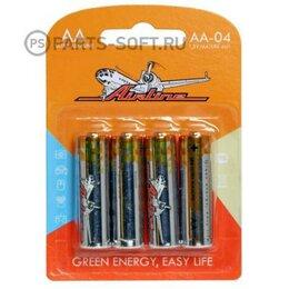 Батарейки - AIRLINE AA04 Батарейки LR6/AA щелочные 4 шт. блистер AA-04 , 0