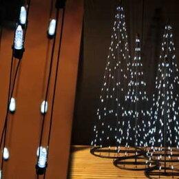 Новогодний декор и аксессуары - Конус светодиодный 150cm-96 белых мерц. LED-контроллер-24V, 0