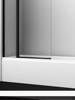 Шторы и карнизы - Стеклянная шторка/дверка для ванны новая, 0