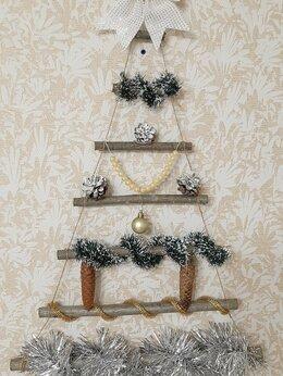 Ёлочные украшения - Новогоднее украшение.Ручная работа. Настенная…, 0
