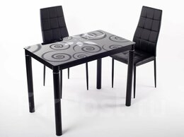Столы и столики - Стол обеденный 100*60 - черный, 0