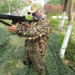 Одежда и обувь - Камуфляжный маскировочный костюм для охоты листья, 0