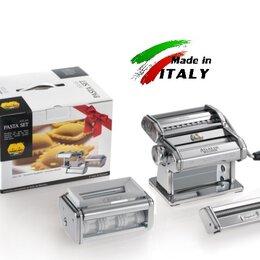 Пельменницы, машинки для пасты и равиоли - Marcato Classic Pasta Set 150 лапшерезка - тестораскатка - пельменница, 0