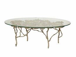 Столы и столики - Журнальный столик со стеклянной столешницей…, 0