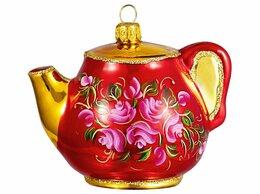 Ёлочные украшения - Ёлочная игрушка ЧАЙНИЧЕК, коллекция 'Чайная…, 0