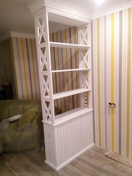 Стеллажи и этажерки - деревянный стеллаж перегородка , 0