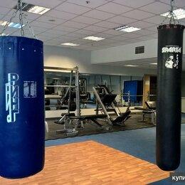 Тренировочные снаряды - Боксерские мешки профессиональные, с креплениями, наполнитель резиновая крошка, 0