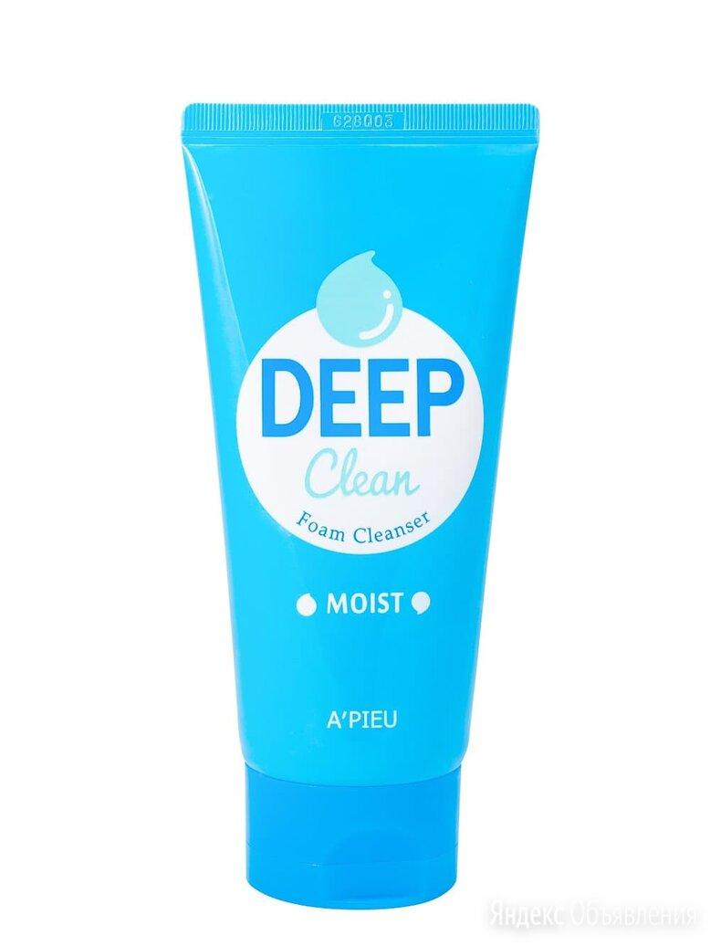 Глубоко очищающая увлажняющая пенка A'PIEU Deep Clean Foam Cleanser Moist по цене 400₽ - Очищение и снятие макияжа, фото 0