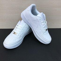 Кроссовки и кеды - Кроссовки Nike Air Force 1 мужские белые (A845), 0