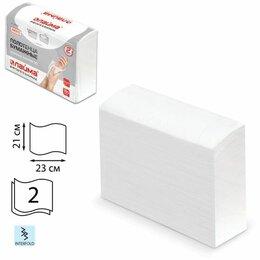 Полотенца - Полотенце бумажное КОМПЛЕКТ 190 шт., ЛАЙМА (Система H2) ЛЮКС, 2-слойное, белое, , 0