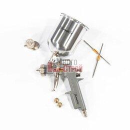 Аксессуары, запчасти и оснастка для пневмоинструмента - Краскораспылитель пневмат. с верхним бачком V = 0,6 л + сопла диаметром 1.2, 1.5, 0