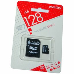 Карты памяти - 128GB SmartBuy MicroSDXC UHS-I U1 class 10, 0