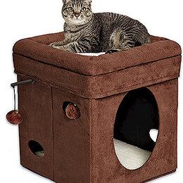Лежаки, домики, спальные места - Домик-лежанка для кошек складной (США), 0