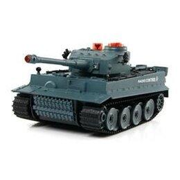 Радиоуправляемые игрушки - Р/У танк Huan Qi Tiger 1:24 для танкового боя, 2.4G RTR + акб и ЗУ, 0