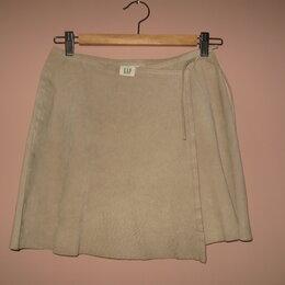 Юбки - Gap оригинал юбка с запАхом, замша натуральная р.42, 0