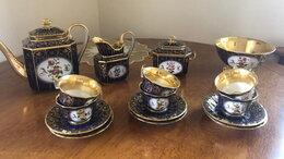 Сервизы и наборы - Антикварный чайный сервиз на 6 персон, Франция., 0