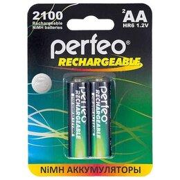 Аккумуляторы и зарядные устройства - Новые Аккумуляторы Perfeo AA2100mAh/2шт, 0
