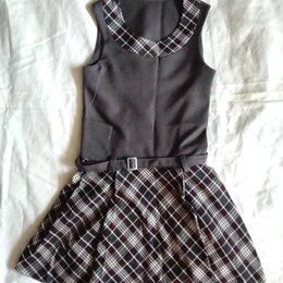 Платья и сарафаны - Сарафан для школьной формы девочки 3го класса. Рост 122-128, размер 56, 0