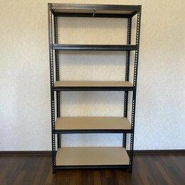 Стеллажи и этажерки - Стеллаж металлический с настилом ДСП (170 кг на полку), 0