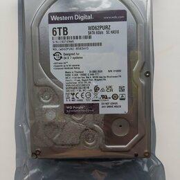Внутренние жесткие диски - Жесткий диск WD62PURZ HD Purple для видеонаблюдени, 0