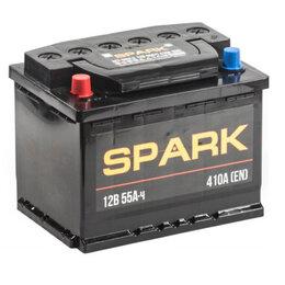 Аккумуляторы и комплектующие - Аккумулятор автомобильный Spark 55Ач 450А Прямая полярность, 0