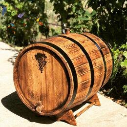 Бочки, кадки, жбаны - Дубовая бочка 50 литров для хранения алкогольных напитков, 0
