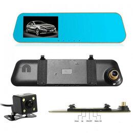 Видеокамеры - Авто-видеорегистратор  зеркало + камера (R12 ), 0