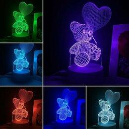 Ночники и декоративные светильники - 3D светильник ночник мишка, 0