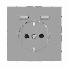 Кабели и разъемы - Розетка компьютерная USBx2 Schneider Electric Merten D-Life MTN2366-6036, 0