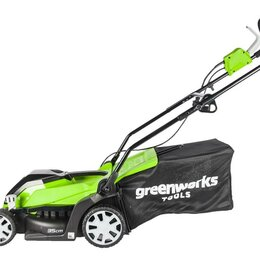 Газонокосилки - Газонокосилка электрическая Greenworks GLM1035, 0