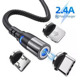 Зарядные устройства и адаптеры - Магнитный кабель Айфон Андроид, 0