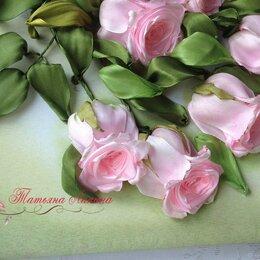 Картины, постеры, гобелены, панно - Картина Розы на столе. Вышивка лентами., 0