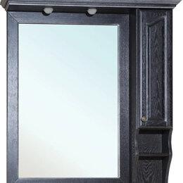 Зеркала - Зеркало-шкаф Bellezza Рим 110 R черное патина…, 0