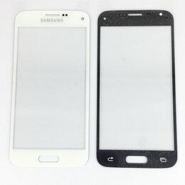 Дисплеи и тачскрины - Стекло дисплея для Samsung Galaxy S5 mini белое, 0