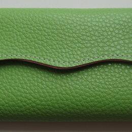 Кошельки - Кошелек из искусственной кожи зеленый 19*10*2см. Новый., 0
