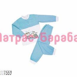 Домашняя одежда - ⭐Детская пижама «Пижама Спящий мишка (синий)», 100% хлопок, 0