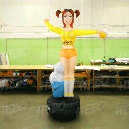 Рекламные конструкции и материалы - Надувная фигура зазывала девушка автомойщица, 0