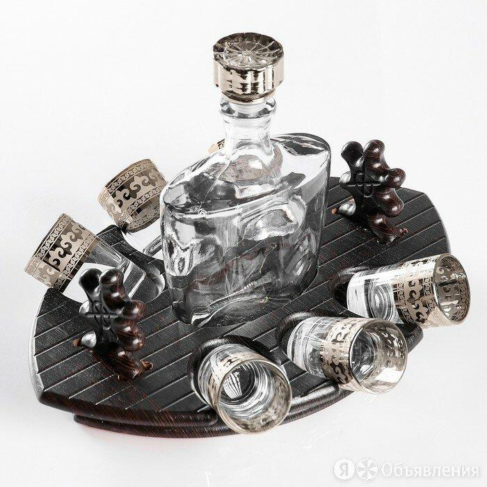 """Мини-бар """"Фрегат"""" византия, 7 предметов, 500/50 мл по цене 1838₽ - Подарочные наборы, фото 0"""