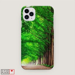 Чехлы - Силиконовый чехол для iphone 11 зеленый лес, 0