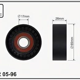 Отопление и кондиционирование  - Ролик натяжителя приводного ремня Renault Clio II, Megane II, Kangoo, Nissan Alm, 0