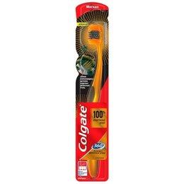 Зубные щетки - Щетка зубная Colgate 360 Золотая С древесным углем,мягкая, 0