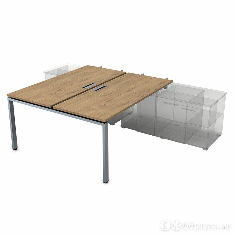 Стол системы БЕНЧ на 2 рабочих места для крепления на тумбу, начальный (1400*... по цене 22731₽ - Компьютерные и письменные столы, фото 0