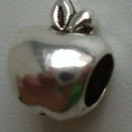 Кулоны и подвески - Шарм металлический «яблоко»., 0