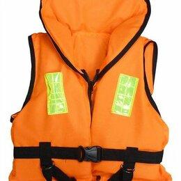 Аксессуары  - Жилет спасательный детский со свистком и подголовником 20 кг. (оранжевый), 0