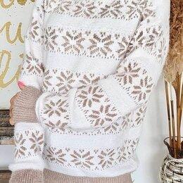 Свитеры и кардиганы - Женский вязаный свитер р-ры 46-60, 0