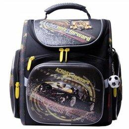 Рюкзаки, ранцы, сумки - ACR15-196NEW5 ЭКРОСС Ранец  Чёрный/жёлтый Мал, 0