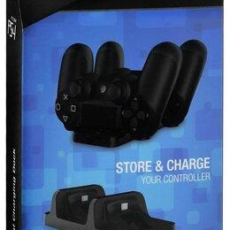 Аксессуары - Зарядная станция PS4 Dobe Dual Charging Dock - PlayStation 4 (Black), 0